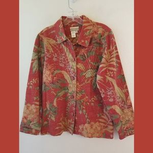 Coldwater Creek Button Front Cotton Jacket Small